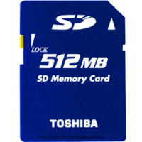 Toshiba Secure Digital Card 512MB