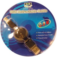 Retractable USB Cable A-B
