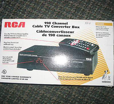 RCA Cable/ TV Converter Box--198 Channels