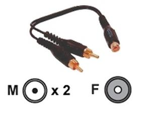 Audio cable - RCA (F) - RCA (M) - shielded