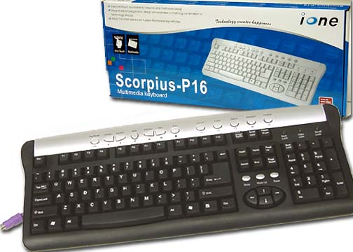 IONE P16 PS2 Multimedia Keyboard