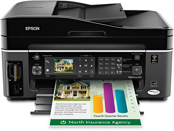 EPSON MULTIFUNCTION WorkForce 610 INKJET PRINTER